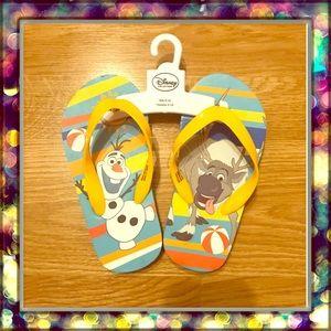 [Disney] Frozen Olaf & Sven flip flops